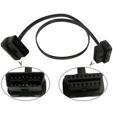 16 Pin Flat Thin OBD2 Stecker auf  Ellenbogen Verlängerung Kabel Stecker