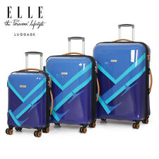 ELLE Luggage RESILIENT Hard Shell Case Trolley Suitcase Set Carry On Lightweight