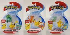 NEW Pokemon Battle Ready! Figure Pack Lot Pikachu Bulbasaur Charmander Squirtle