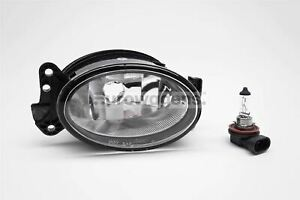 Mercedes-Benz CLK 05-09 Front Fog Light Lamp With Bulb Right Driver Off Side O/S
