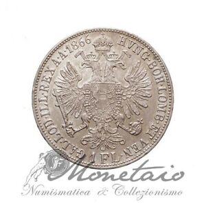 (Monetaio) Austria 1 Florin 1866 B Franz Joseph I KM# 2220