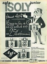 C- Publicité Advertising 1962 Appareil Photo Agfa Isoly Junior par Nicard