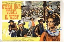 CLAUDIA CARDINALE SIGNED ONCE UPON A TIME IN THE WEST POSTER AUTOGRAPH w/ COA