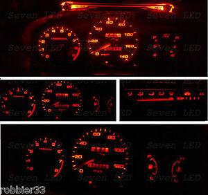 Red Led Kit for Honda Civic EK 96-98 Gauge Cluster Climate Control