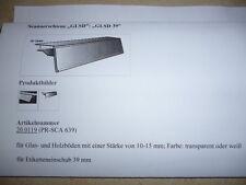 40x Scannerschiene, transparent,100 cm lg,f. 39 mm Preisschild, f. Böden 10-15mm