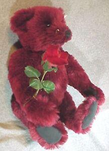 "Steiff Dew Drop Rose 16"" Teddy Bear Button-In-Ear NR"