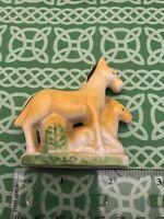 Parent Horse & Foal Ceramic Mid Century Figure Piece FREE SHIPPING