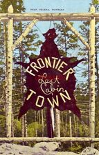 LOST CABIN AT FRONTIER TOWN near HELENA, MT ax peeled fir trees with wooden pegs