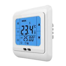 24V /AC LCD Touch Screen Programmable Underfloor Heating Room Thermostat 3A Blue