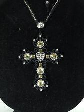 RETRO black cross with heart NEKLACE REG. $80.00