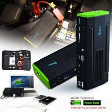 Heavy Duty Portable 12800mAh Emergency Car Jump Starter & Power Bank Travel Kit