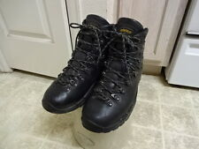 ASOLO ALL LEATHER GORE TEX POWER MATIC 200 HIKING BOOTS MEN BLACK