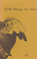 LTD ED. SIGNED by BERN PORTER - ONE'S WINGS ON VIEW; Wormwood Review - BUKOWSKI