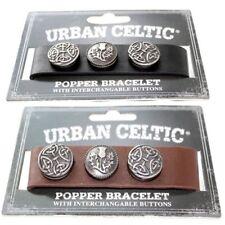 Bracelet Celtic Leather Wristband Mens Black Boys Urban Male Interchangeable New