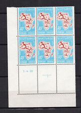 TUNISIE 1959 Y&T N°497 6 timbres neufs sans charnière coin daté 3.4.59 /KRT24