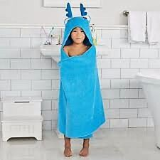 Disney Jumping Beans Doc McStuffins Stuffy Dragon Blue Hooded Bath Towel Wrap