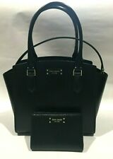 $329 NWT Kate Spade Small Leather Satchel/Crossbody Bag With Bifold Wallet Black