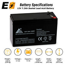 12V 7.2AH Replacement UPS Battery for APC Back-UPS ES 550VA