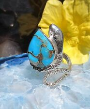 Ring Snake Sterling Silver 925 Turquoise Copper turquoise hl Stone d Indianer