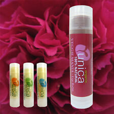 UNICA COSMETICS ORGANIC DARK PINK TINTED LIP BALM WITH VEGETABLE PIGMENTS ECZEMA
