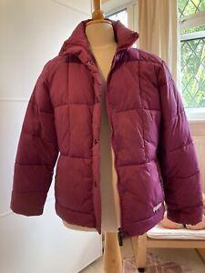 Womans Ladies Purple/Cerise Puffa Jacket Size 16