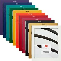 """Craig Frames Confetti Primary, .875"""" Wide Modern Picture Frame, Various Colors"""