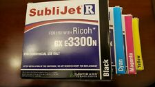 SAWGRASS SubliJet-R cartridges set of 4 for Ricoh  GX e3300N EXPIRED