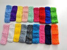 Crochet Headbands Waistband Hair bands Baby Girl New Stretch Tutu 1.5 inch 6X