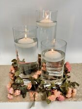 Simple Floral Table Centrepiece Kit Wedding Floating Candles Vases Event Decor