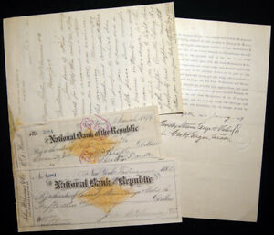 1882 CROSBY STEAM GAGE & VALVE CO BOSTON MASSACHUSETTS SIGNED BUSINESS EPHEMERA