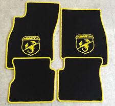 Autoteppich Fußmatten für Fiat Grande Punto Abarth 199 ab05' sw gelb 4tl Neu Vel