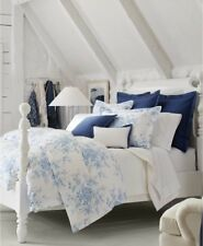 RALPH LAUREN Archival Collection Dauphine Blue White Floral 2P TWIN COMFORTER SE