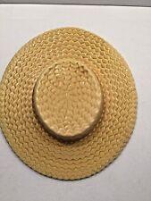 Vintage Weller Pottery Wall Pocket Vase Straw Hat Boater
