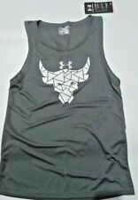 Under Armour Project Rock Brahma Bull T-Shirt Compression Gray Sleeveless