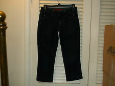 "BANANA REPUBLIC LIMITED EDITION JEANS CAPRI'S ""Trouser Style 0 Dark Blue Stretch"