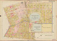 1908 JERSEY CITY HUDSON COUNTY NEW JERSEY NEWKIRK AV - MANHATTAN AV ATLAS MAP