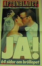 Poster Prinzessin Princess Victoria Hochzeit Schweden