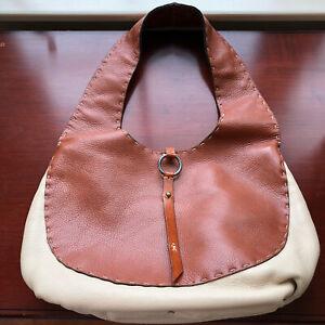 Henry Beguelin Leather Two Tone Shoulder Bag, Bergdorf Goodman