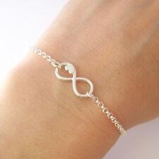 Bracelet motif infini infinity amour paix huit coeur en argent 925/1000 BR41-c
