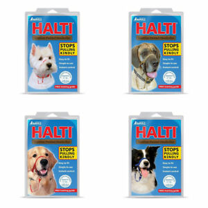 HALTI Dog Head Collar Leightweight Padded Anti Pull Stop Pulling Kindly - Black
