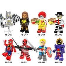 8Pcs Superhero Custom Space Batman Deadpool Minifigure Building Block Fit Lego
