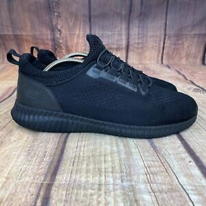 Skechers Cessnock Slip Resistant Sneakers Men Size 9 W Shoes 77188W - Black -
