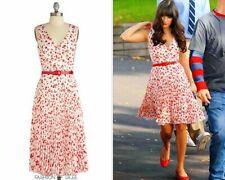 RARE Modcloth Eva Franco Movie Moment Red Hearts Valentines Pleated Dress 12 XL