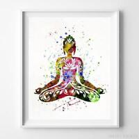 Buddha Buddhism Wall Art Watercolor Poster Home Decor Nursery Room UNFRAMED