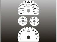 2007-2014 Chevrolet Silverado Yukon Dash Instrument Cluster White Face Gauges