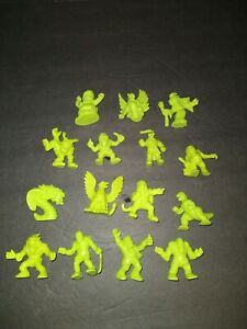 Monster In My Pocket Lime Green 15 Figures Lot