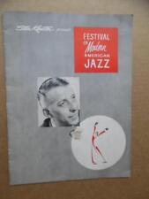 c.1955 Stan Kenton's Festival of Modern American Jazz Program Dizzy Gillespie