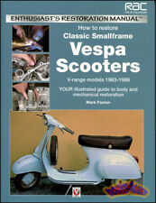 VESPA SCOOTER RESTORATION MANUAL GUIDE BOOK HOW TO RESTORE 1963-1986 PAXTON 125
