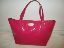 Kate Spade New York Large Pink Patent Leather Handbag Shoulder Bag Tote Purse