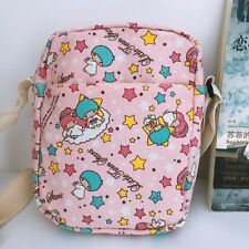 Little twin stars pink shoulder bag Cycling bags money phone bag canvas new
